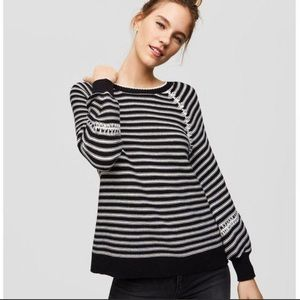 LOFT whipstitch Striped long sleeve sweater gift